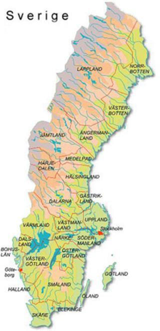 Karta Usa Sjoar.Sveriges Sjoar Karta Karta